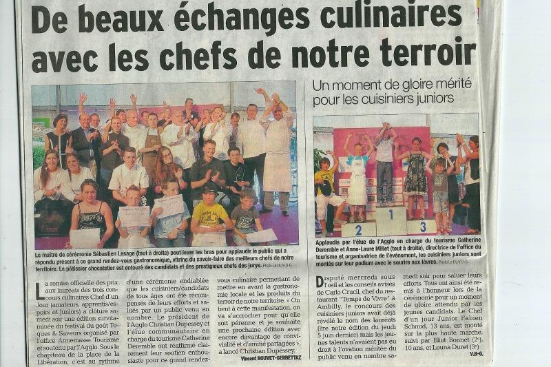 Toque et Saveurs DL 74 du 09.06.2014